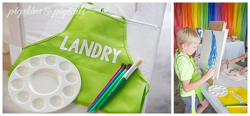 Painting Party Aprons Personalized