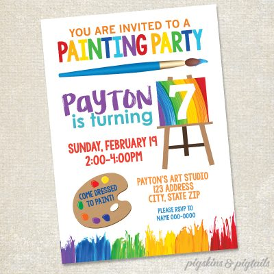 Painting Art Birthday Party Invitation