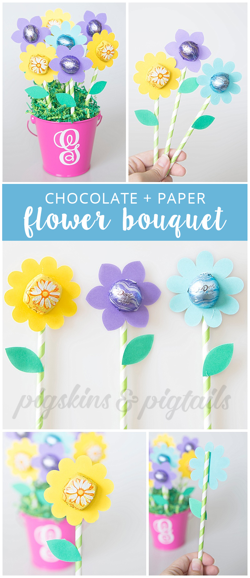 Teacher Appreciation Flower Gift with Dove Chocolates