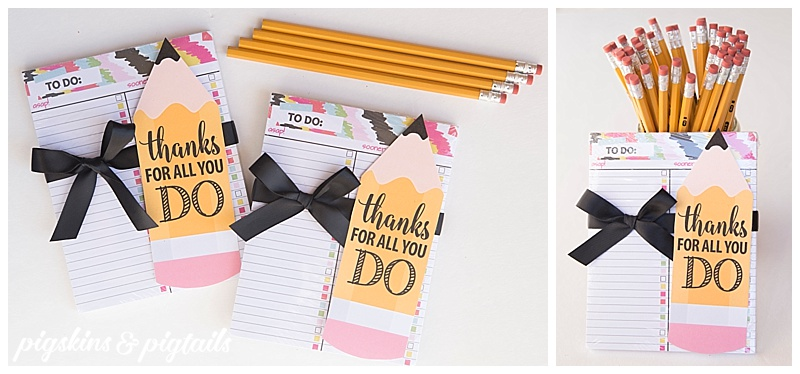 DIY Teacher Appreciation Idea Easy with Printable