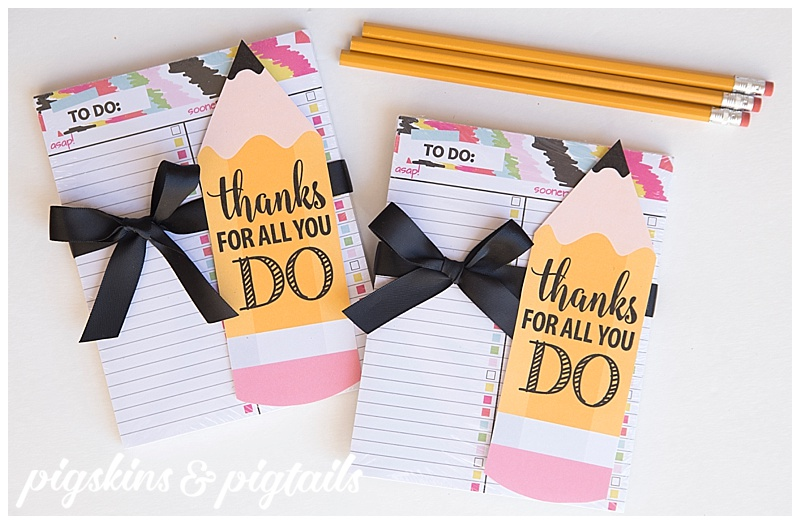 Teacher Appreciation Idea To Do Notepad