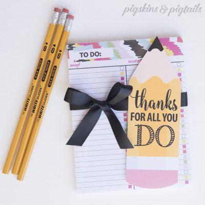 Teacher Appreciation Gift Idea - To Do Notepads