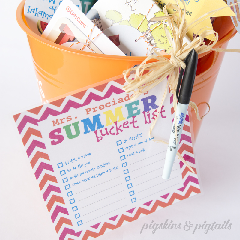Summer Bucket List Printable Gift Idea
