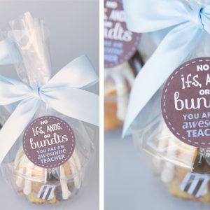 Bundt Cake Teacher Appreciation Gift Idea
