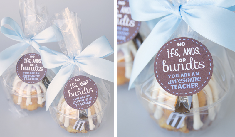 Bundt Cake Teacher Appreciation Gift Idea