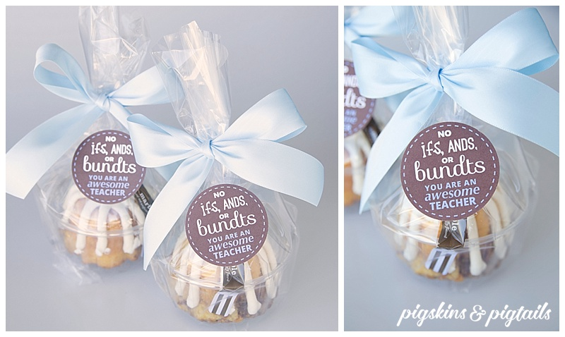 Nothing bundt cake teacher gift idea