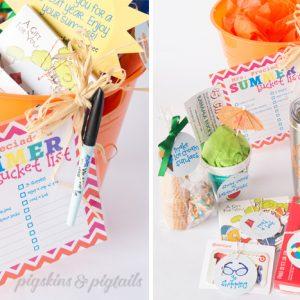 Summer Bucket List Teacher Gift Idea