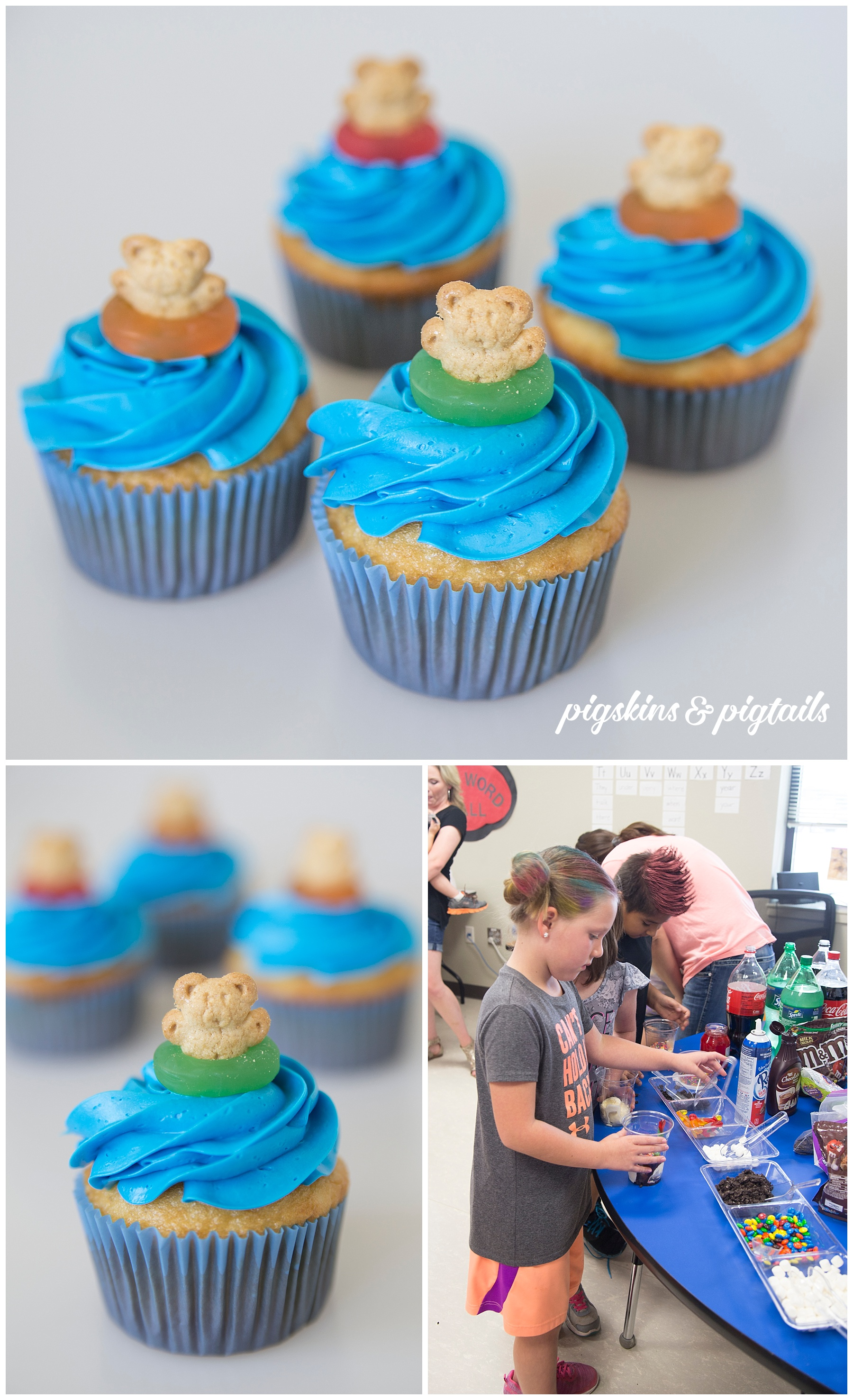Cupcakes for Beach Themed Class Party
