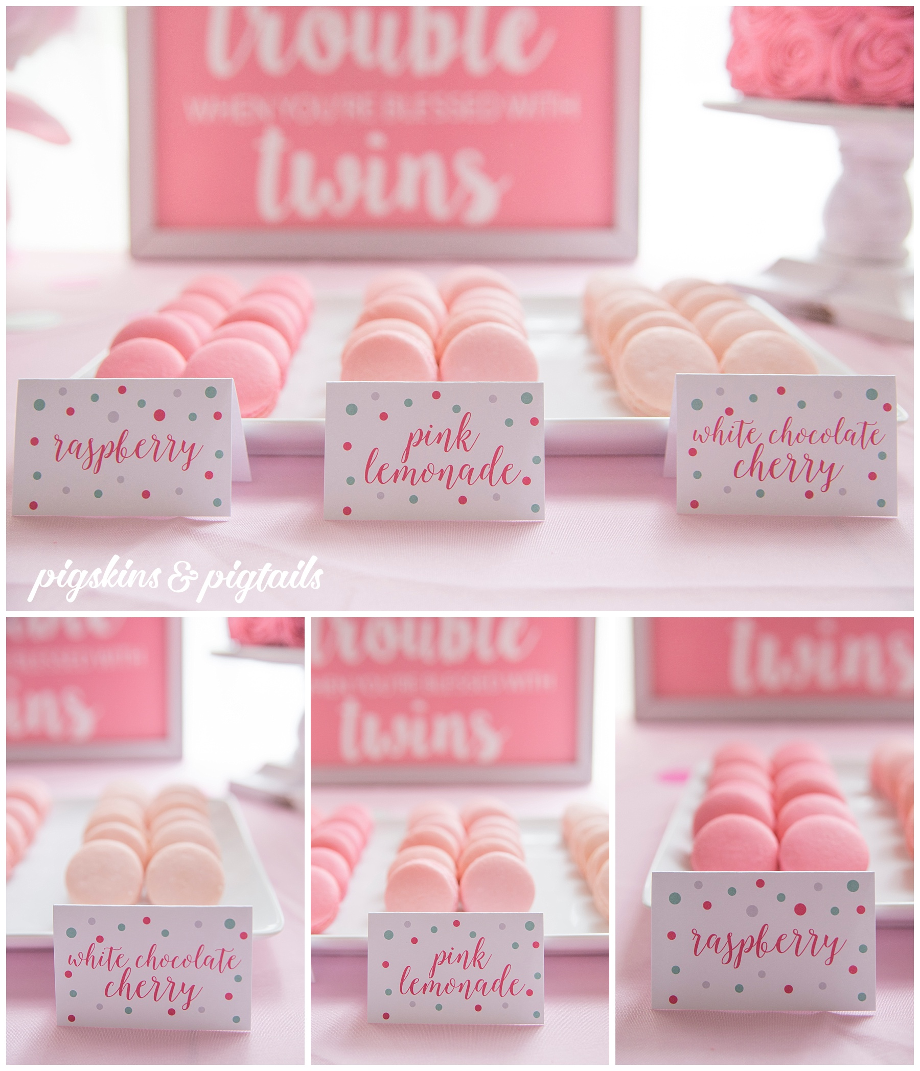 Macaron Flavors for Baby Shower