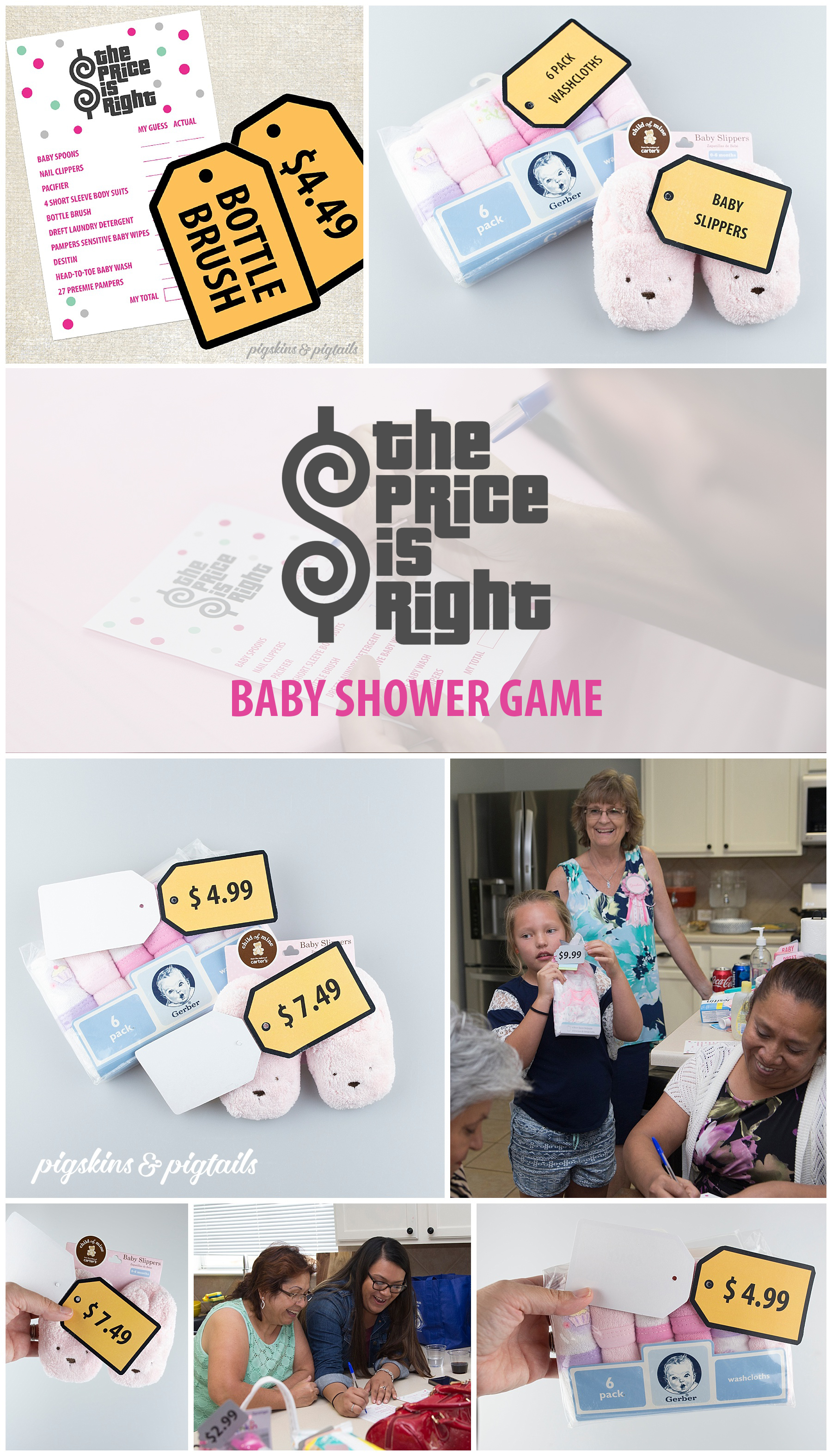 Price is Right Baby Shower Game Printables