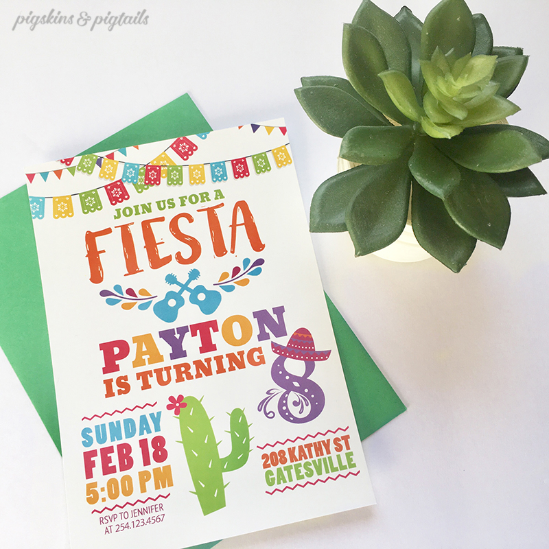 Fiesta Birthday Party Invitation Printable CoCo Movie