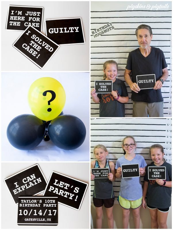 Mystery Party Photo Booth with Props