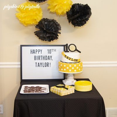 Nancy Drew Mystery Birthday Party