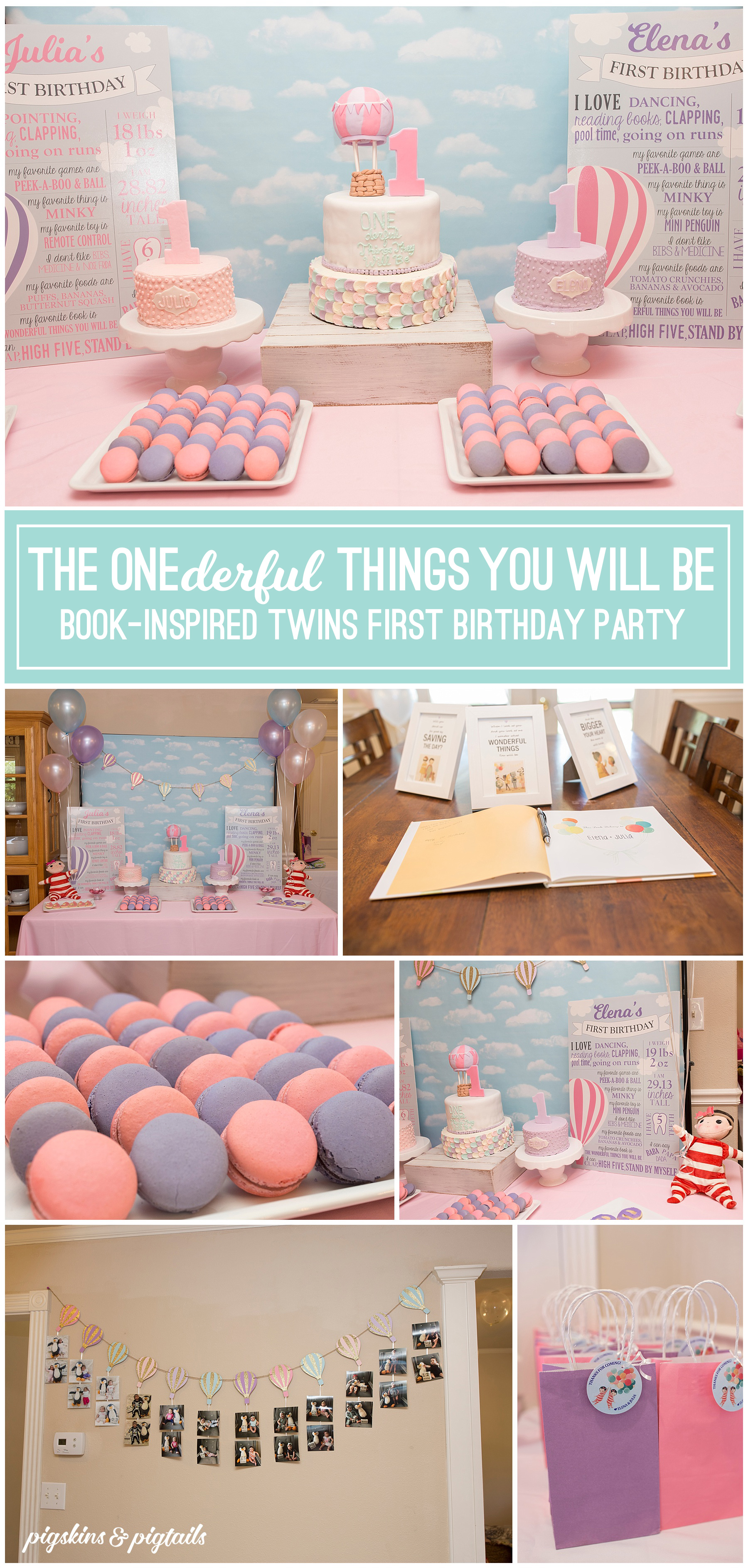 The Wonderful Things You Will Be Book First Birthday Party Theme Cake