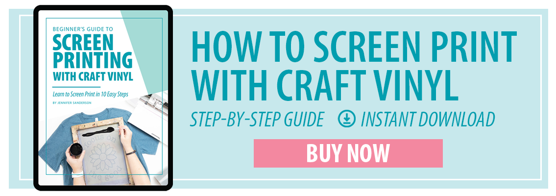 how to screen print with craft vinyl pigskins and pigtails