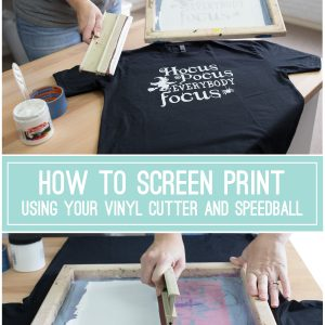 How to Screen Print Using Vinyl Cutter Oracal 651 Speedball