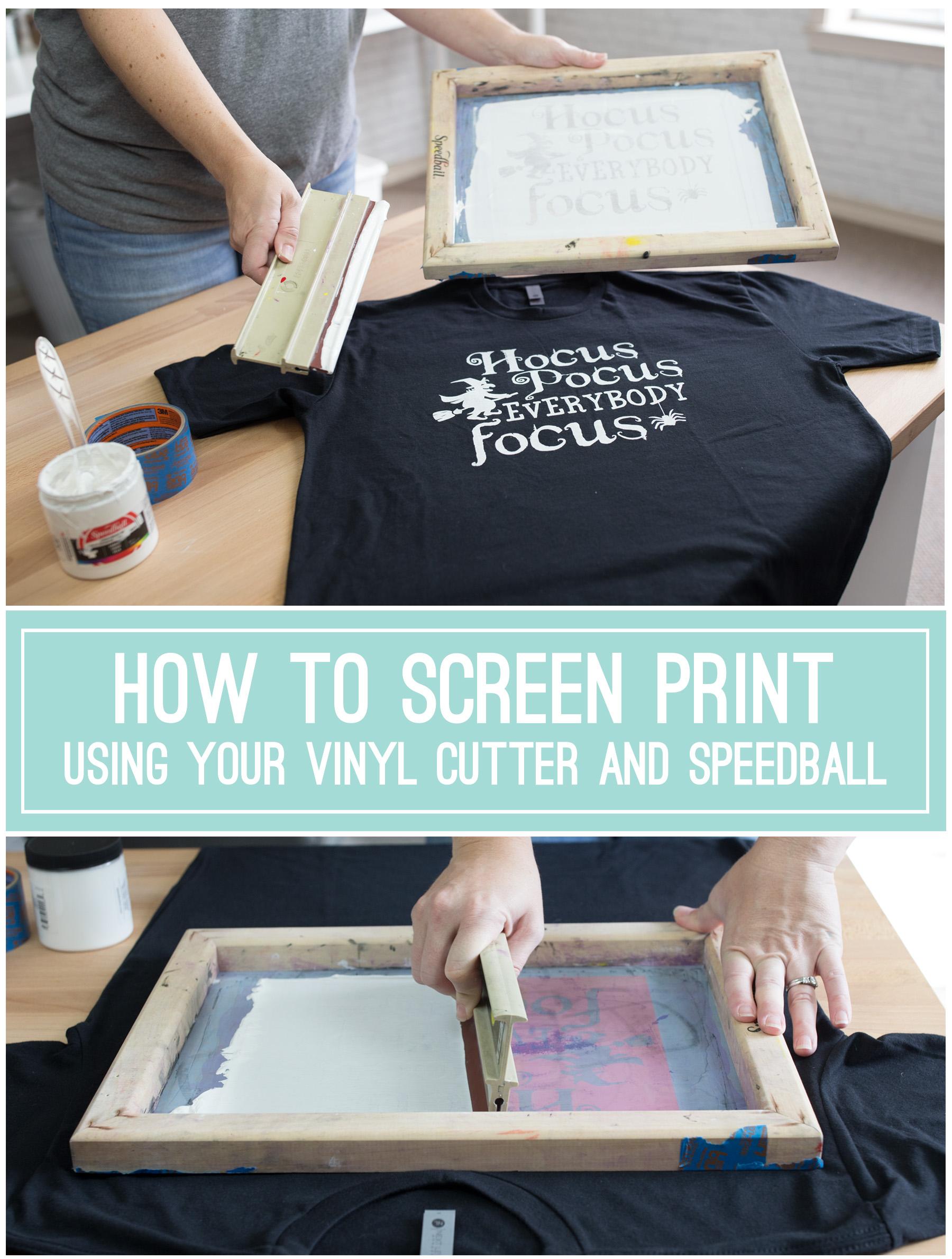 How to Screen Print Using Vinyl Cutter Oracal 651 Speedball
