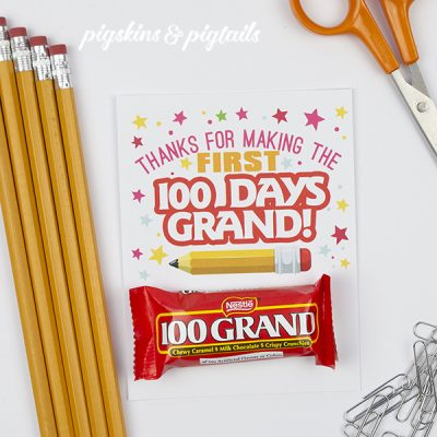 100th Day of School Teacher Gift DIY