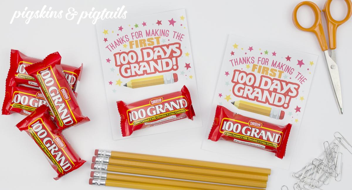100 Days of School Grand Candy Teacher Gift