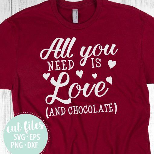 Valentine's Day SVG Tshirt Design Chocolate