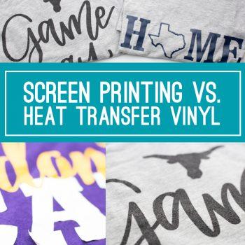 DIY Shirts HTV or Screen Printing