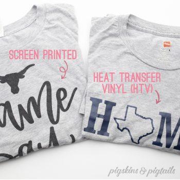 Screen Printing vs. Heat Transfer Vinyl (HTV)