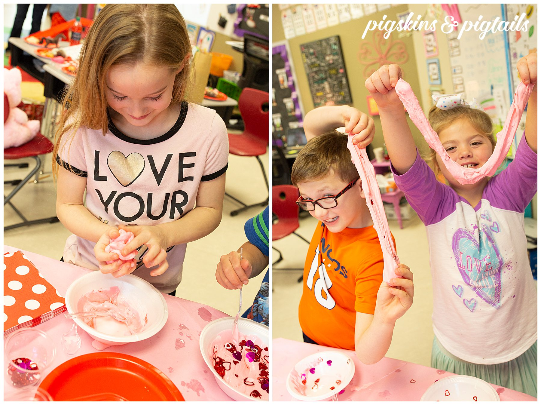 Valentine's Day Classroom Slime Making Party