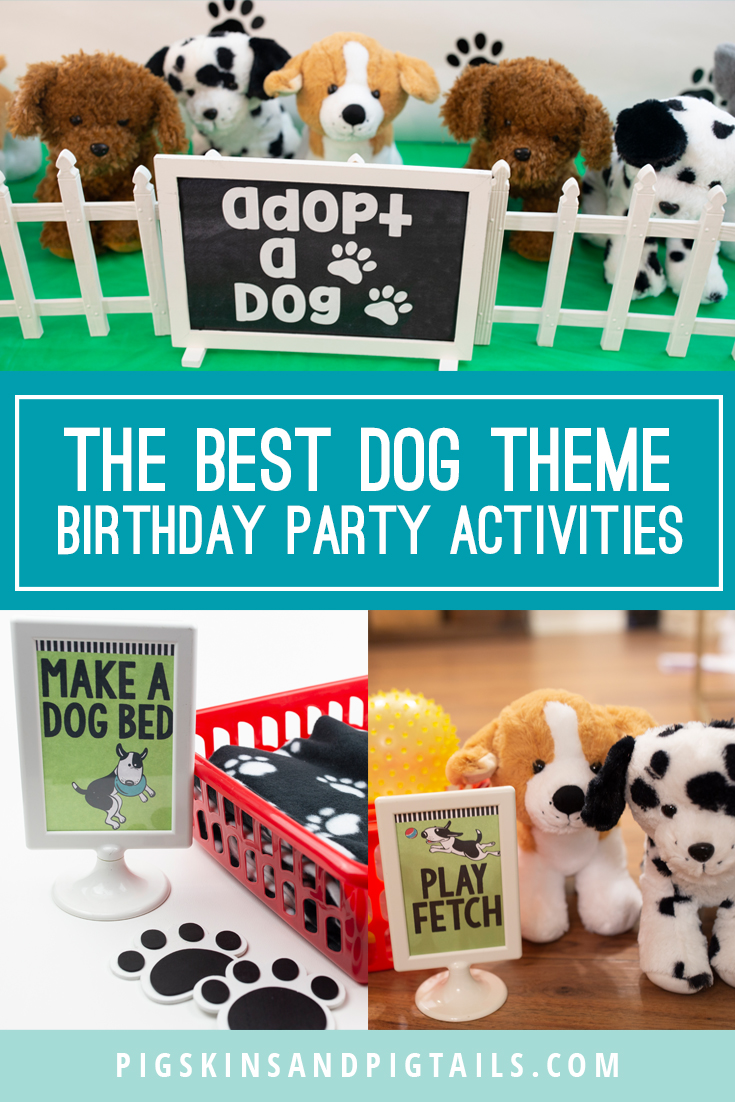 Puppy Dog Theme Birthday Party Pigskins Pigtails