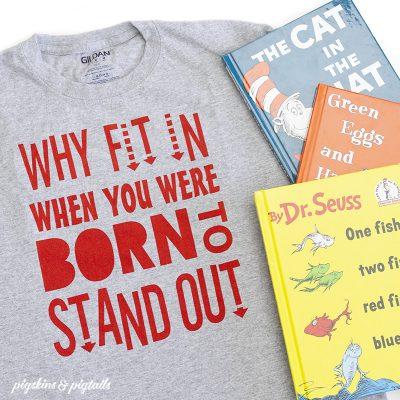 Dr Seuss Quote Tshirt Design SVG