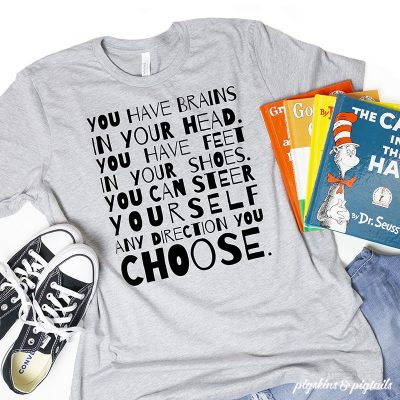Dr Seuss Quote T-shirt Design SVG