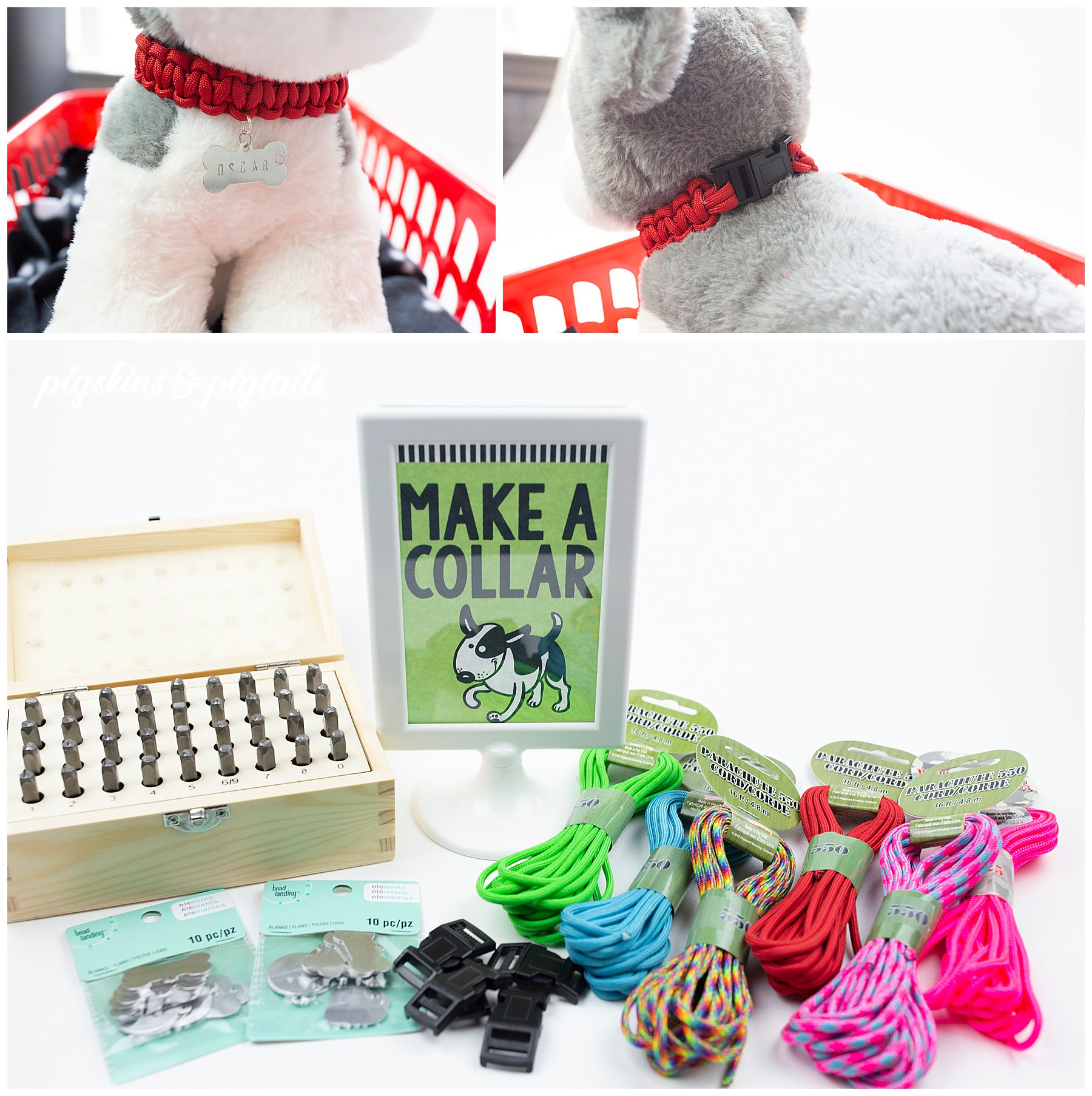 Make a dog collar for your stuffed animal