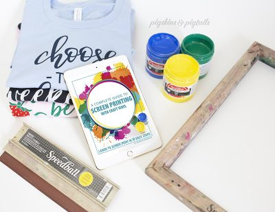 How to Screen Print with Craft Vinyl // eBook Now Available