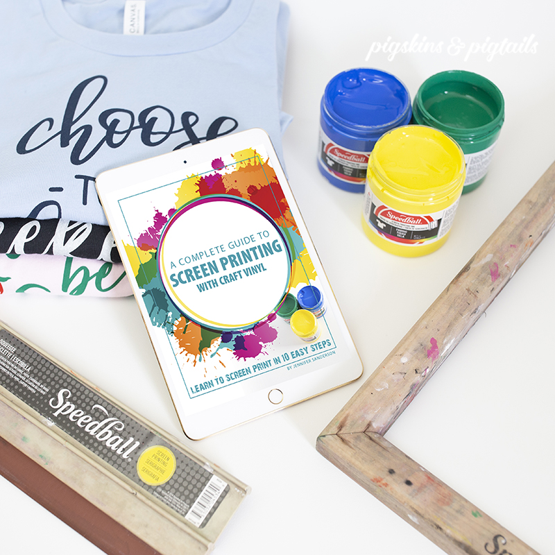 How to Screen Print with Craft Vinyl – Learn in 10 Easy Steps