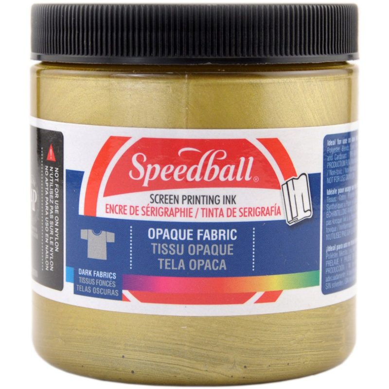 Gold Speedball Fabric Ink for Screen Printing