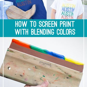 How to Screen Print with Blending Colors Using Speedball Fabric Ink