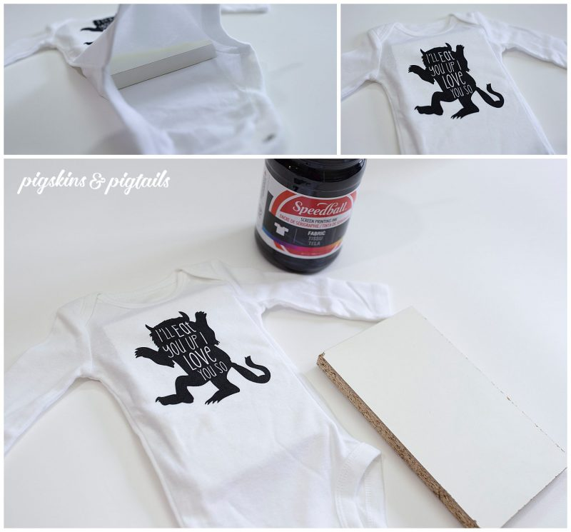 Screen Printing Onesie