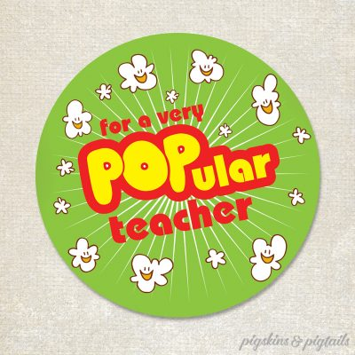 Popcorn teacher appreciation gift idea