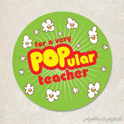 Popcorn teacher appreciation gift idea