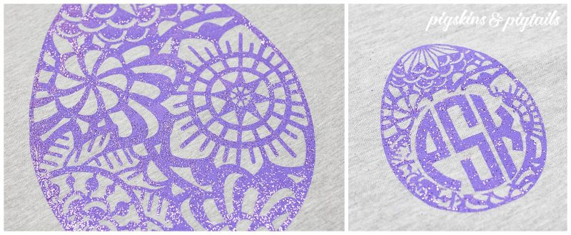 Screen printing with glitter shirts