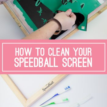 How to clean your screen printing frame