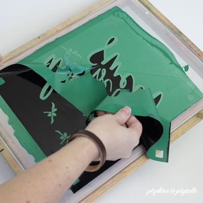 Removing vinyl from screen printing frame how to