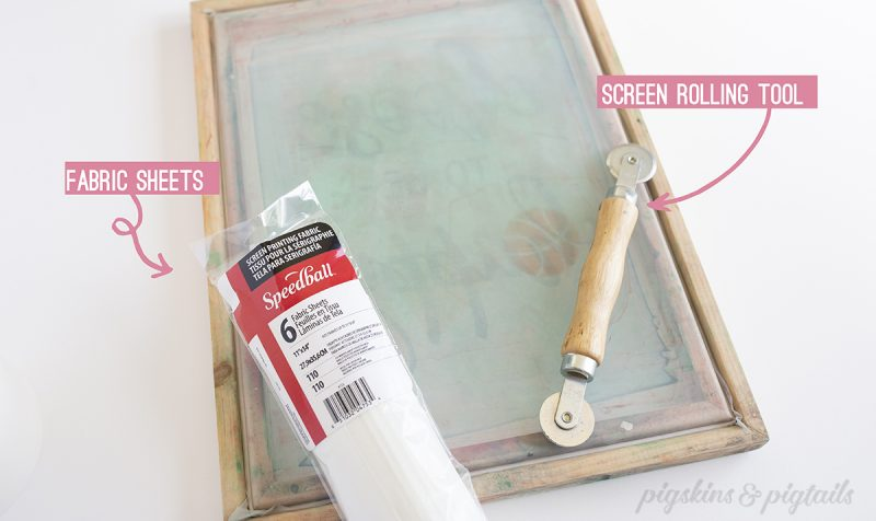 Tools needed for replacing screen printing frame speedball