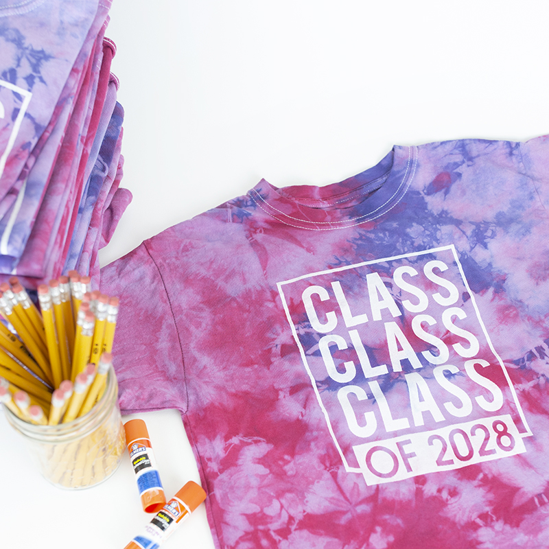 Screen Printing on Tie Dye + Class Party
