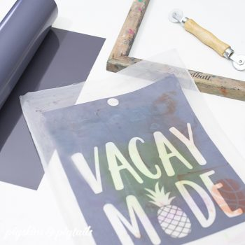Make a Permanent Screen Printing Stencil with HTV