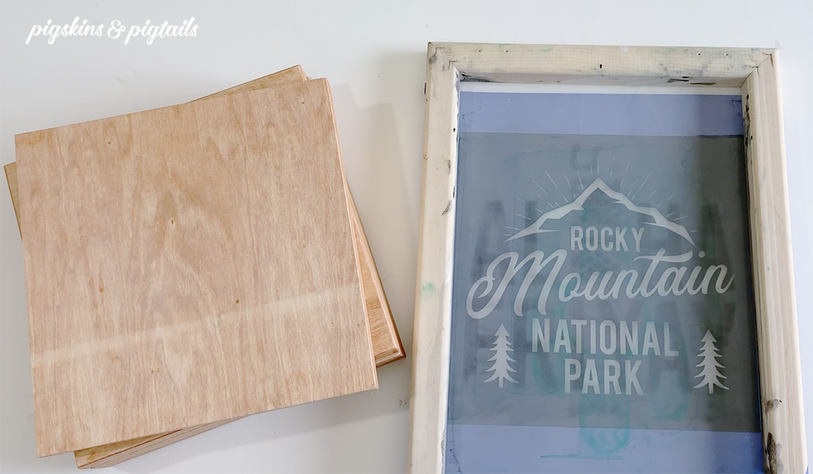 Painted signs with cricut stencil screen printing