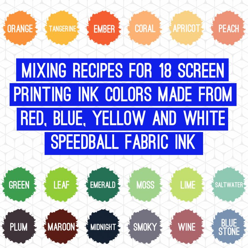 speedball ink mixing how to make colors
