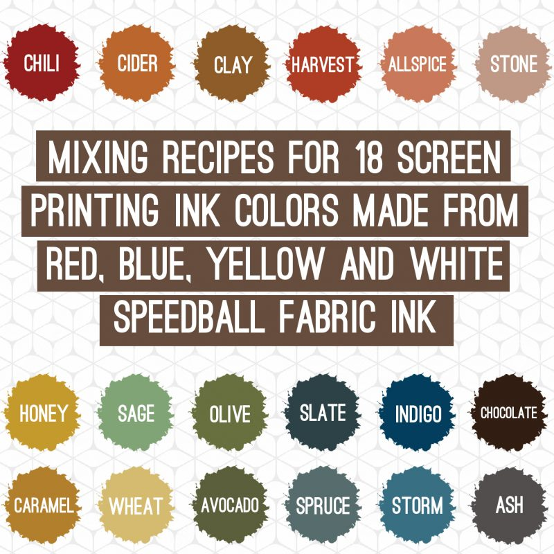 Fall colors with speedball fabric ink