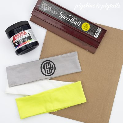 Screen printing on stretchy fabrics headband