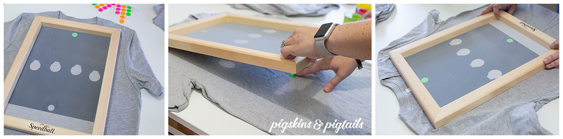 How to line up screen printing multiple colors
