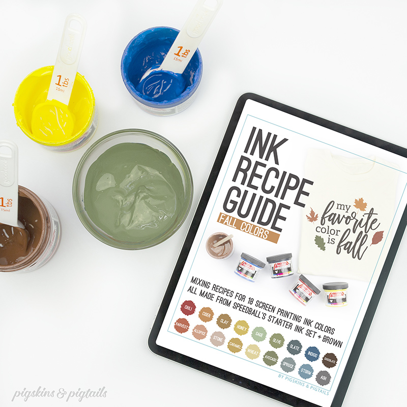 Ink recipe guide speedball fabric ink more colors